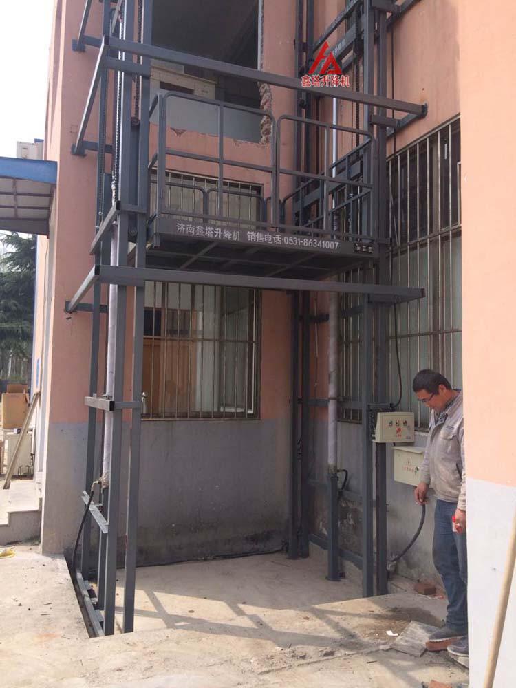 室外导轨式简易货梯