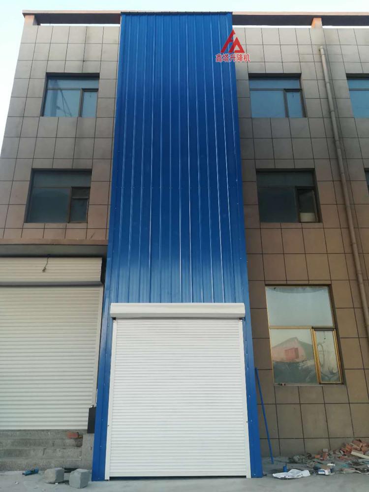 室外导轨式简易货梯外围封闭